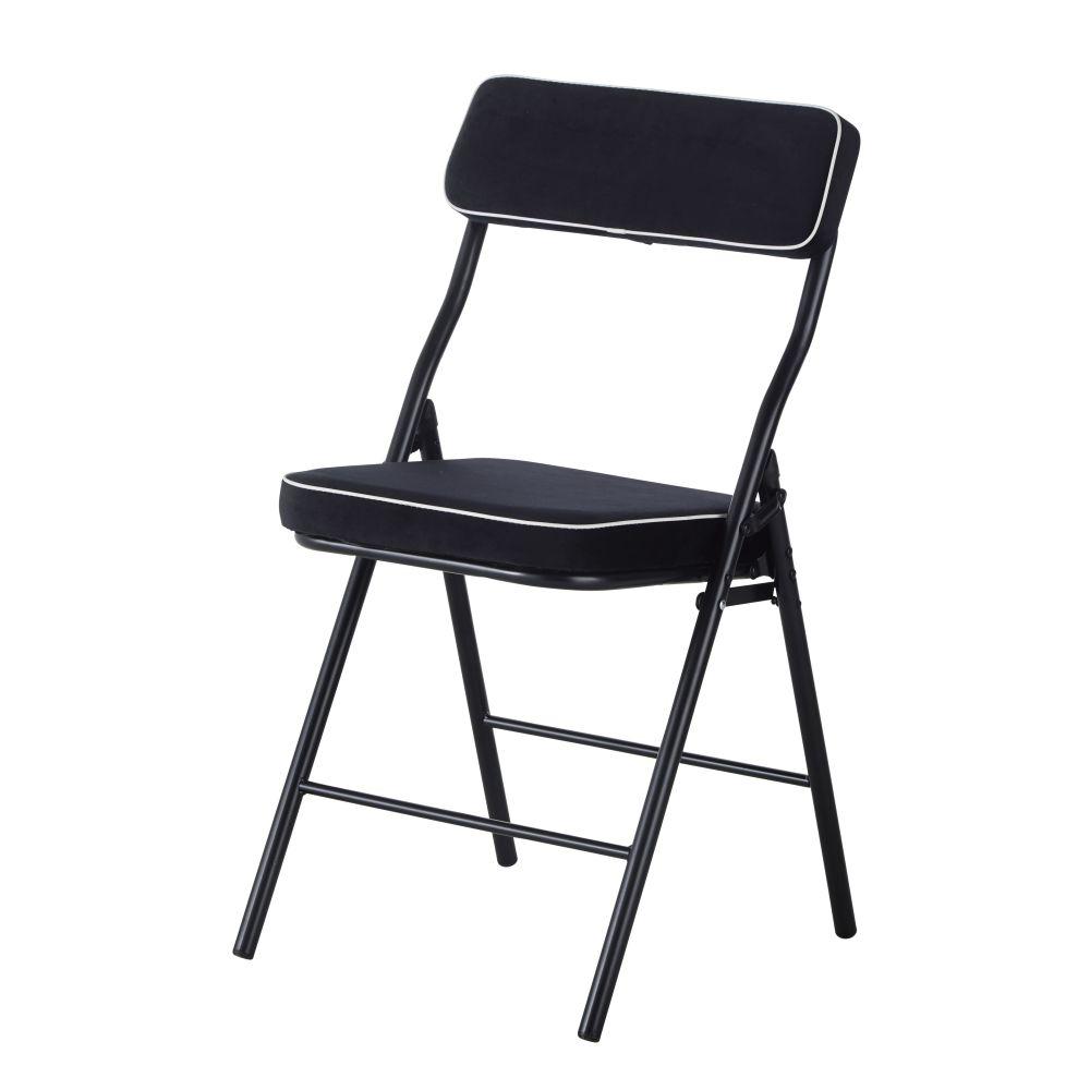 Zwarte Vouwstoel En Poten