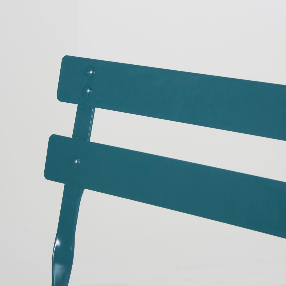 Bleu H80 Chaises Métal De En 2 Époxy Pliantes Jardin Canard vN8w0mnO