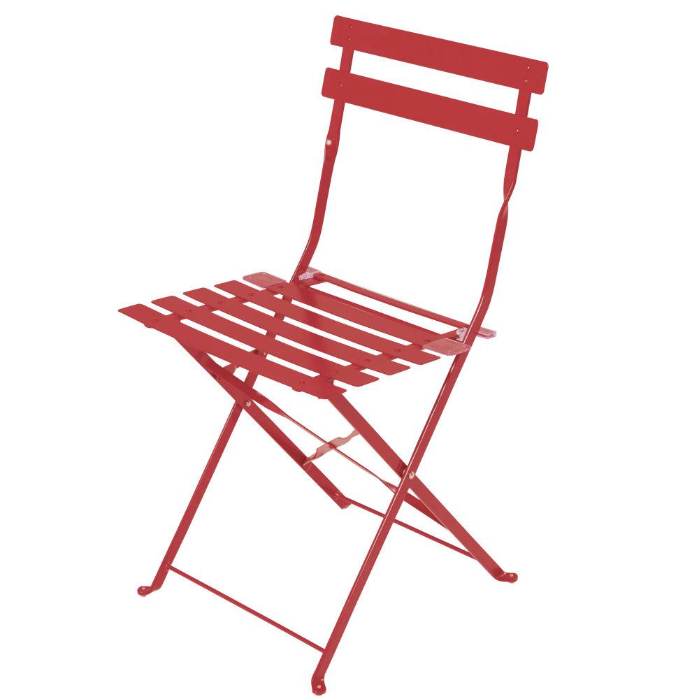 Sillas 80 2 Alt De Plegables Jardín Rojo Epoxi Metal q5Lj4AR3c