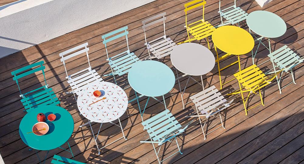Table D58 Jardin D'eau De En Pliante Métal Vert hrCtdsQxB