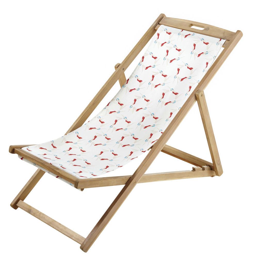 Compatible Panama Longue Toile Imprimé Nageuses Chaise Avec wkPnNOX80
