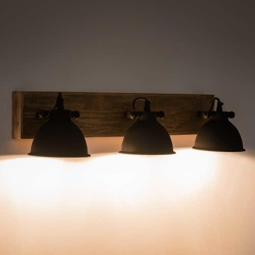 Lampes Métal En 3 L Applique Manguier Et Noir 73cm 8ny0vmwOPN