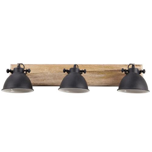 Applique 73cm Manguier Noir Lampes L En Métal 3 Et 5RL4Aj3