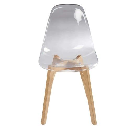 Transparente Scandinave Et Chêne Style Chaise 4Sc5Ajq3LR