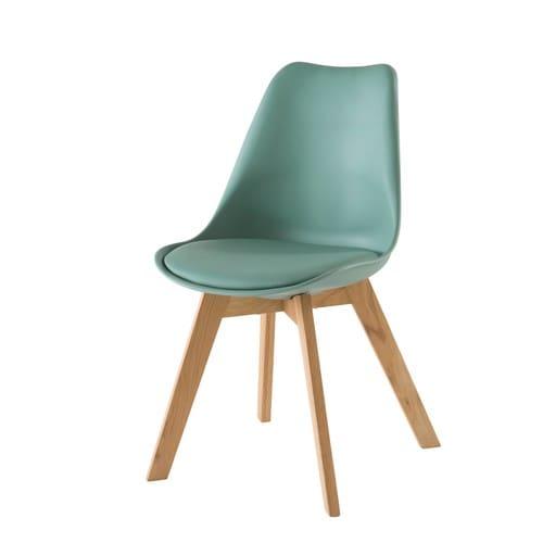 Vert Chaise D'eau Scandinave Chêne Style Et Massif dtrChxsQB