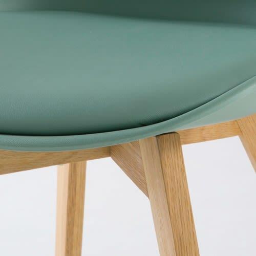 Massif Chêne Chaise Scandinave Style Vert D'eau Et 54RjLA3qc