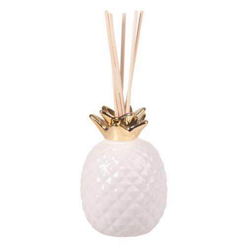 Diffuseur Blanc 100ml Ananas Parfum Doré Sable H2EWDI9