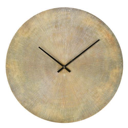 Strié Horloge Métal En Coloris Laiton D74 QBCoreWxd
