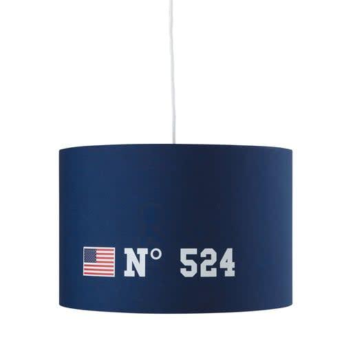 D Azul Lámpara 35 Cm Electrificada De Princeton No Techo Tela w8PX0OknN