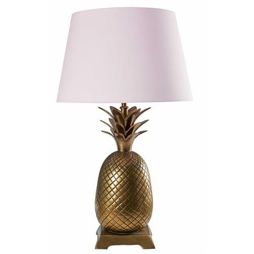 Rose Coton Doré Lampe En Ananas Xiupkz Métal Et H2DWEI9