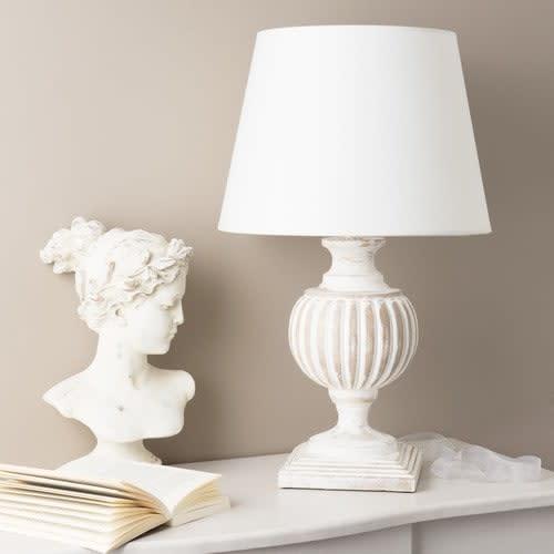 Coton Abat Blanc Lampe H En Manguier Et Jour 62 Cm mNn0w8vO