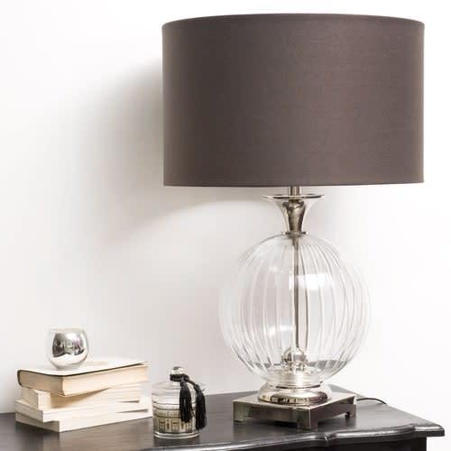 Lampe Coton Verre Abat En Jour Anthracite QCsrdxthB