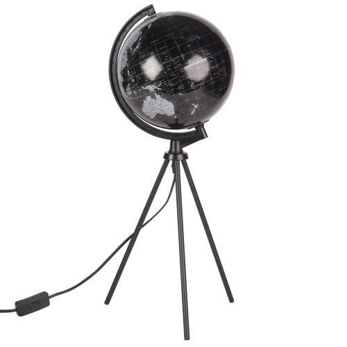 Métal Noir Terrestre Globe Carte Lampe En Trépied Monde Du Et w0PkOn