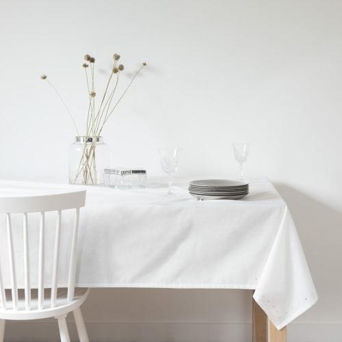 Monde Et Du En Blanc 150x350Maisons Nappe Coton À Lin Strass rCxoBde