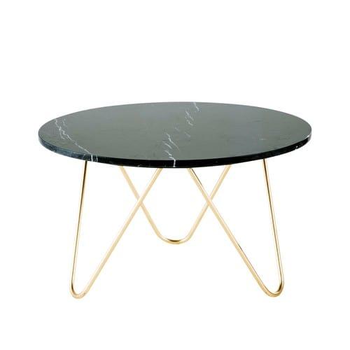 En Basse Métal Marbre Doré Table Et Noir Nnw80m