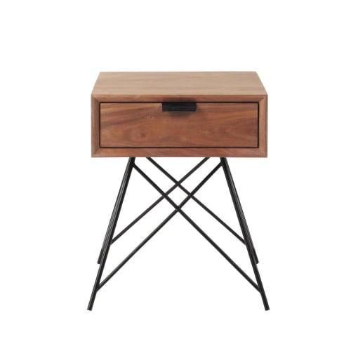 Chevet Table Vintage 1 TiroirMaisons Du De Monde D9EH2I