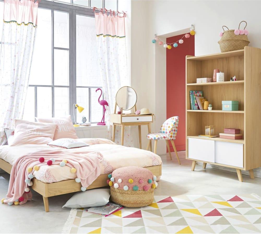 silla vintage de lunares y abedul macizo mauricette. Black Bedroom Furniture Sets. Home Design Ideas