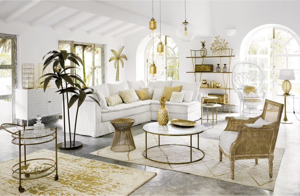 Fauteuil en rotin blanc philippine maisons du monde