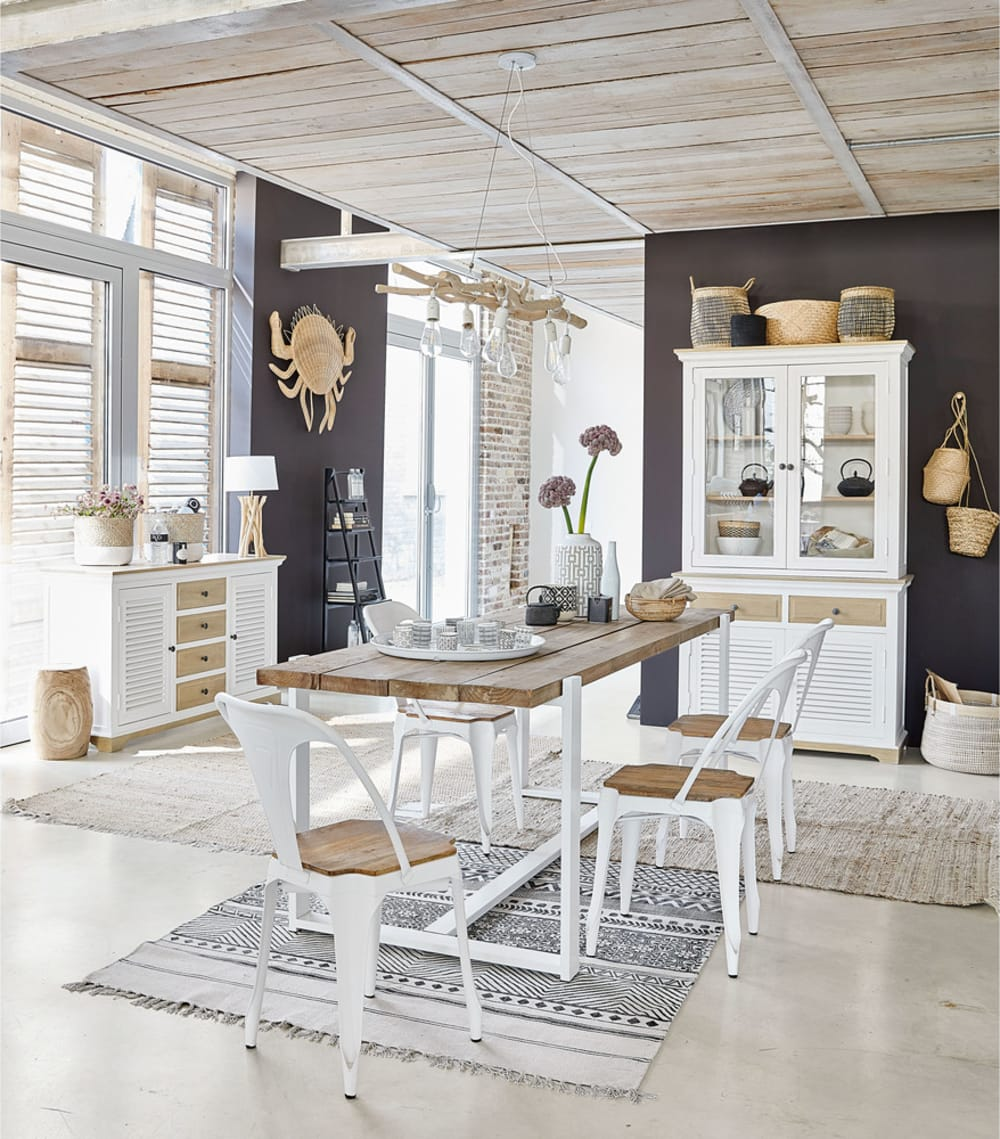 tag re chelle en sapin noir freeport maisons du monde. Black Bedroom Furniture Sets. Home Design Ideas
