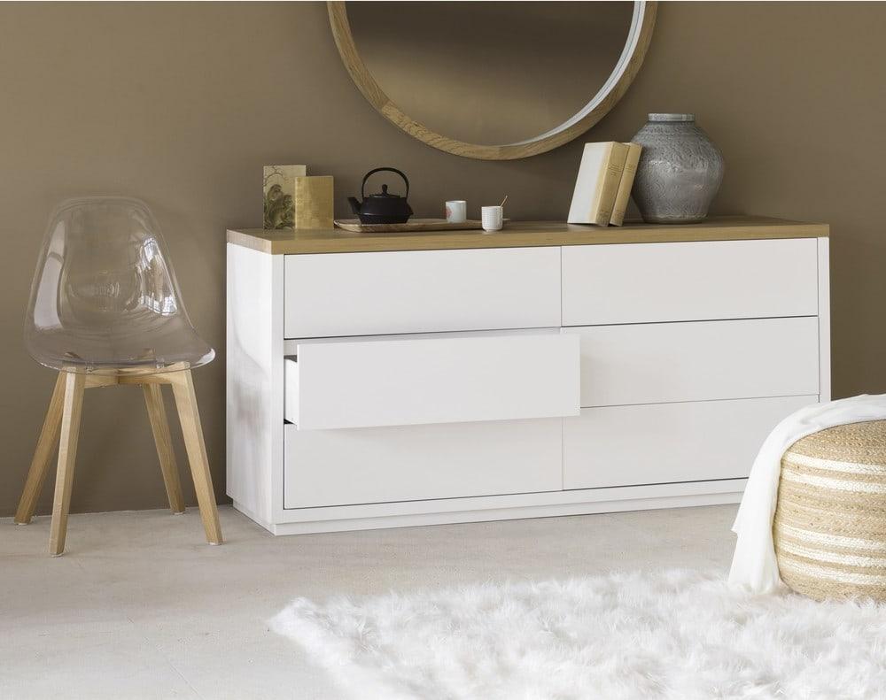 Commode blanche tiroirs austral maisons du monde