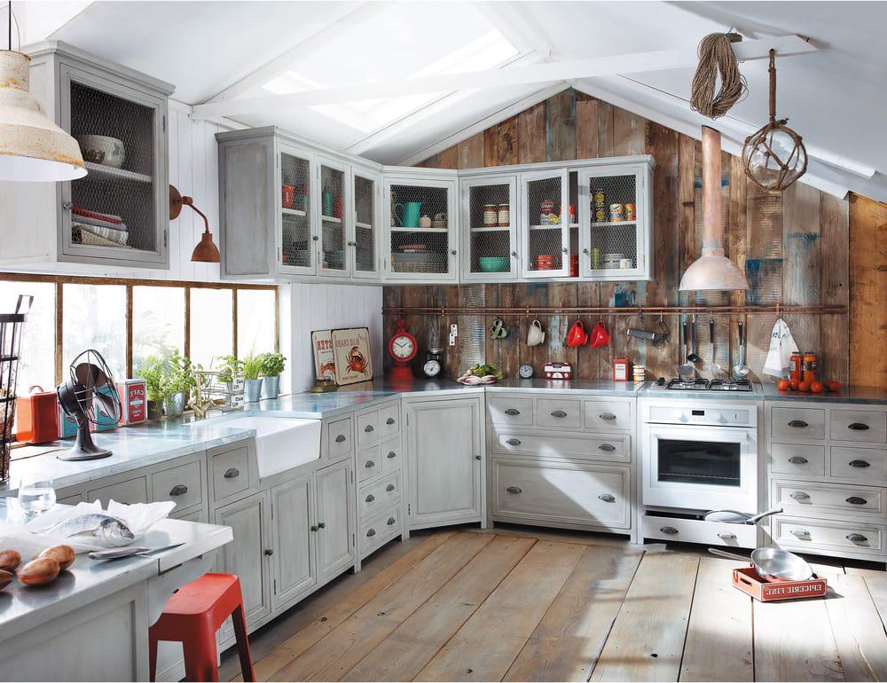 Credenza Da Cucina Maison Du Monde : Küchenunterschrank aus gummibaumholz für spülmaschine b 66 cm zinc