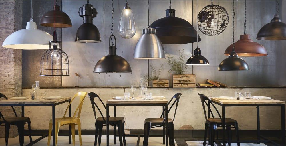 Tavolo Industriale Maison Du Monde : Esstisch im industrial stil aus massivem tannenholz und metall long