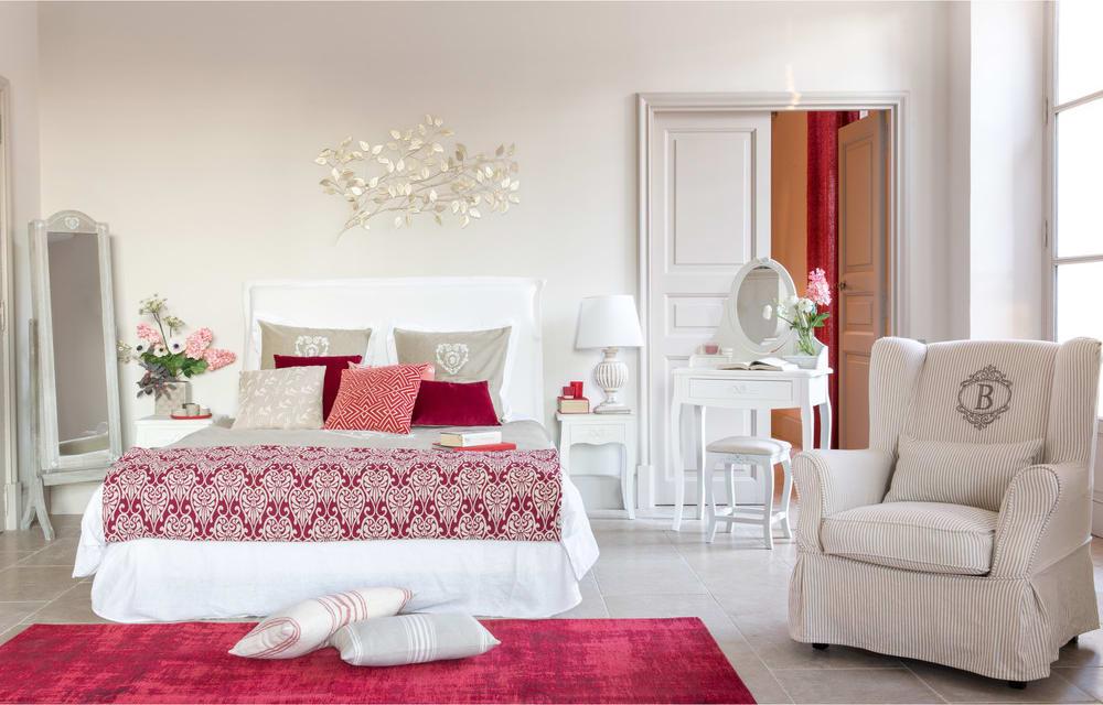 Housse de fauteuil en coton motifs rayures barbade maisons