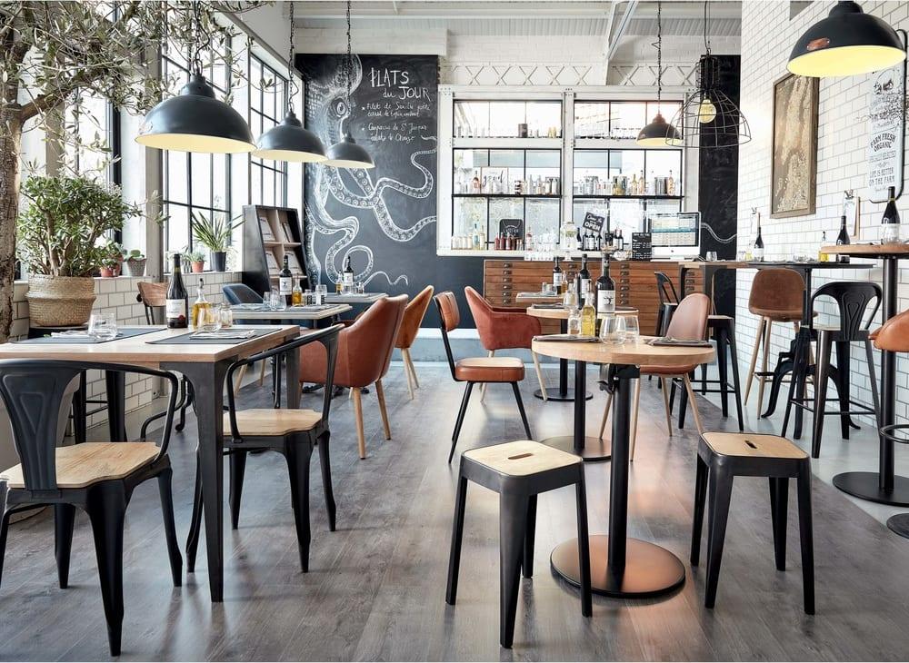 Tavolo Da Pranzo Industriale : Tavolo da pranzo alto industriale in legno massello di mango