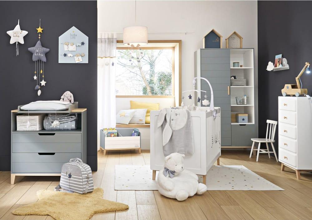 2 White and Blue House Shelves Gaspard   Maisons du Monde