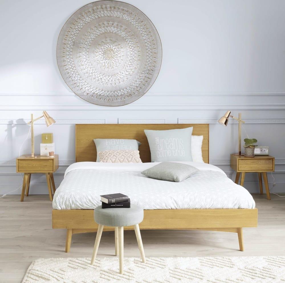 vintage massives eichenbett 160x200 portobello maisons. Black Bedroom Furniture Sets. Home Design Ideas