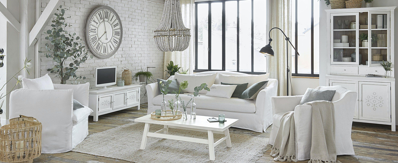 Un salon cocooning en blanc