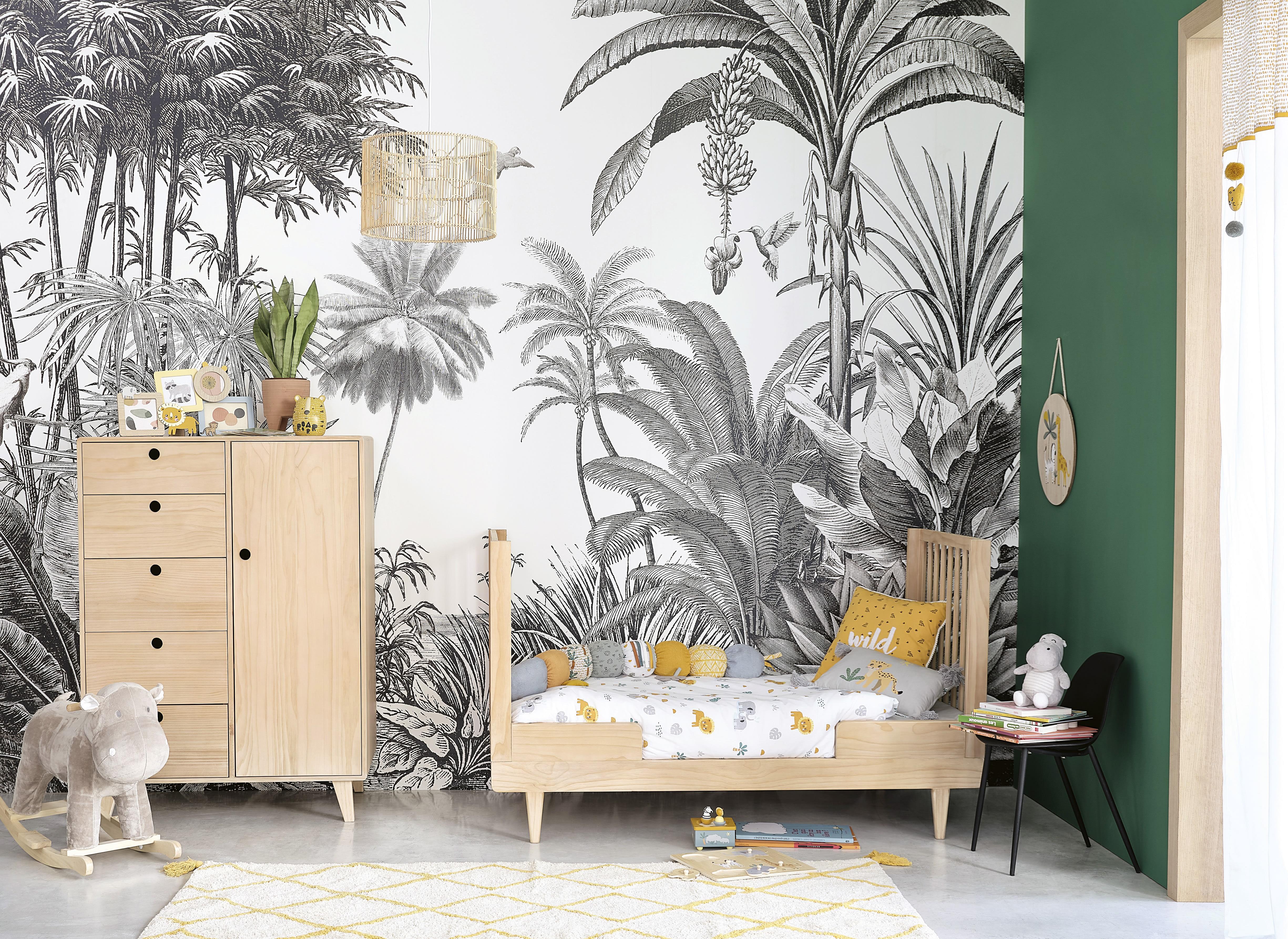 Et si vous optiez pour une chambre d'enfant façon jungle ...
