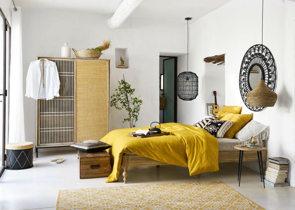 Chambre à coucher colorée