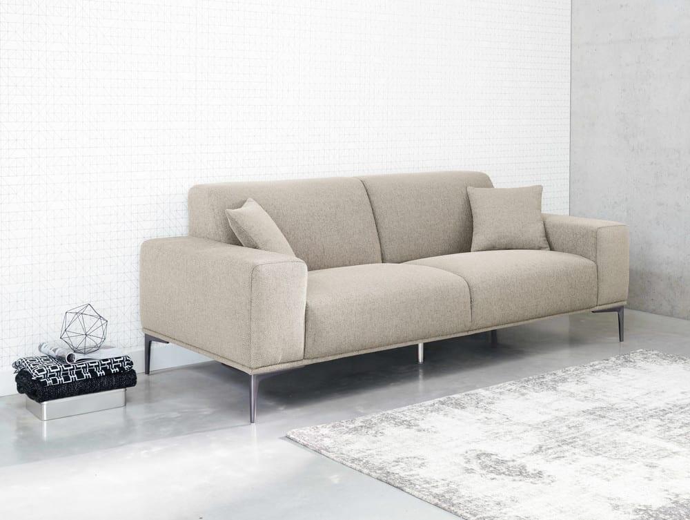 23 Sitzer Sofa Aus Hellgrauem Meliertem Stoff Tokyo Maisons Du Monde