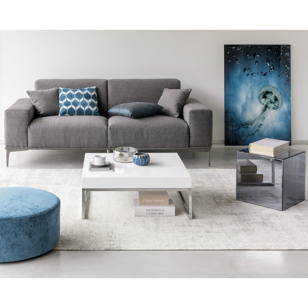 23 Sitzer Sofa Mit Dunkelgrauem Stoffbezug Tokyo Maisons Du Monde