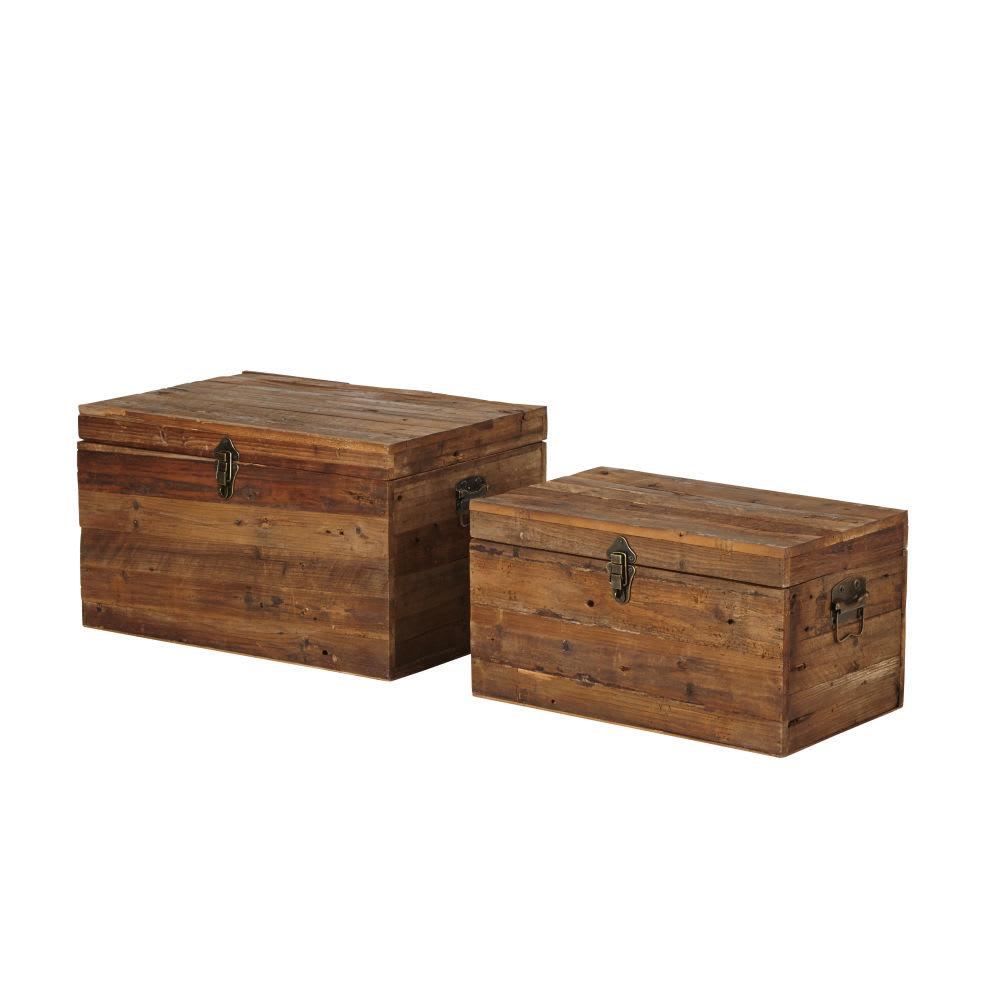2 bauli in legno di abete Lauzelle | Maisons du Monde