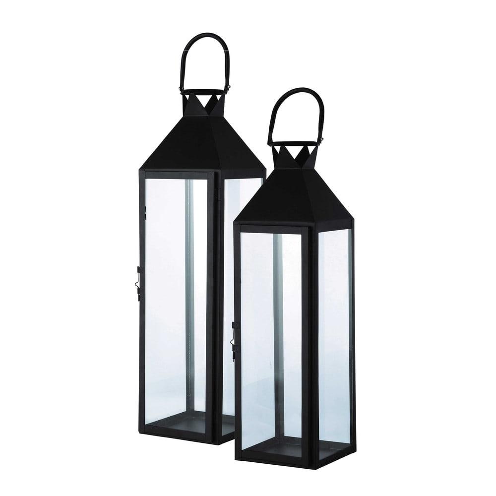 2 lanterne nere da giardino in metallo city maisons du monde for Lanterne arredo
