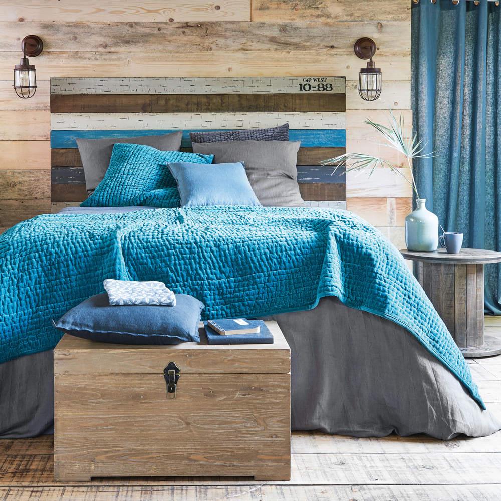 2 malles en sapin et m tal chalet maisons du monde. Black Bedroom Furniture Sets. Home Design Ideas
