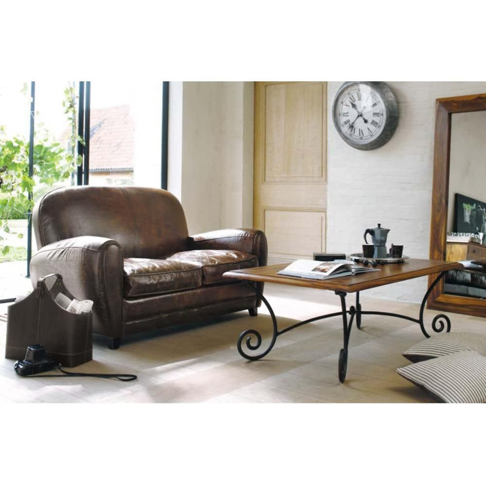 2 Seater Leather Sofa Brown: 2 Seater Leather Vintage Sofa In Brown Oxford
