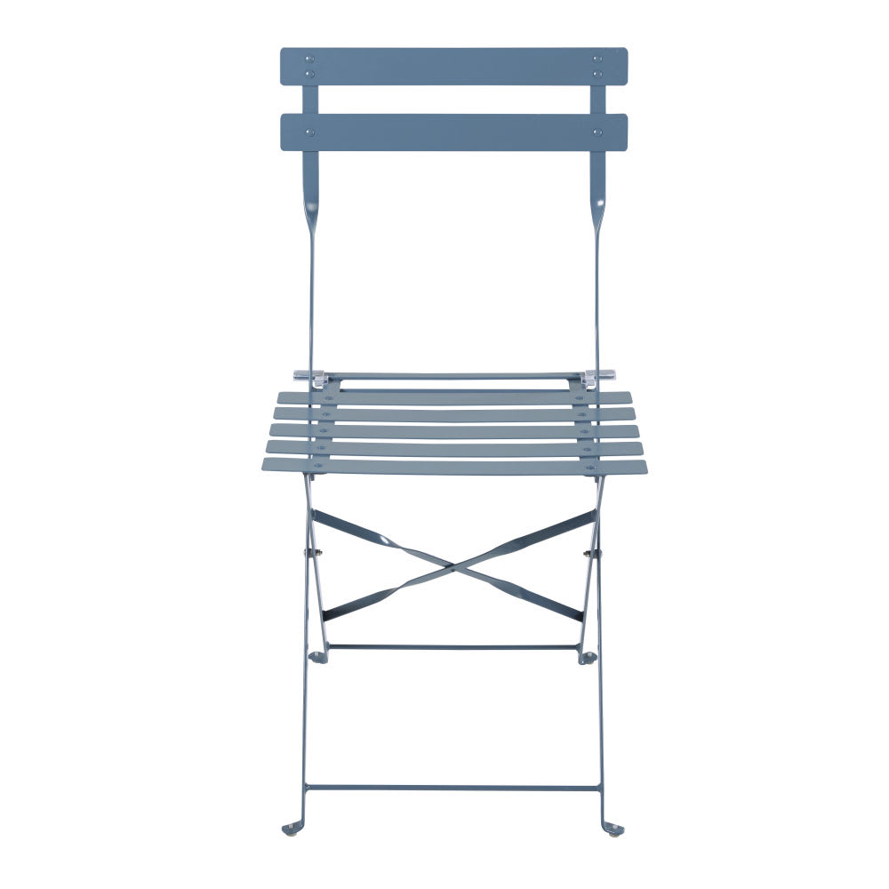 Sedie Da Giardino Pieghevoli.2 Sedie Da Giardino Pieghevoli In Metallo Epossidico Blu Grigio 80