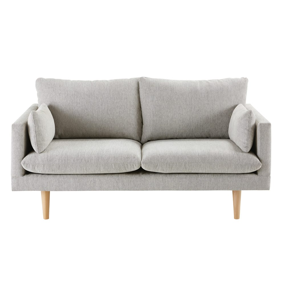 Sofas Maison Du Monde : 2 sitzer sofa hellgrau collins maisons du monde ~ Watch28wear.com Haus und Dekorationen