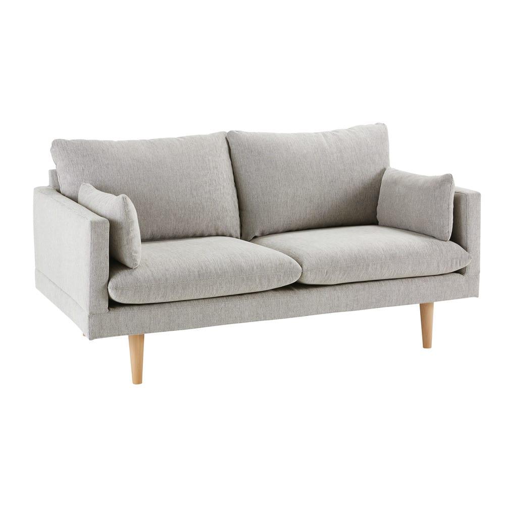2 Sitzer Sofa Hellgrau Collins Maisons Du Monde