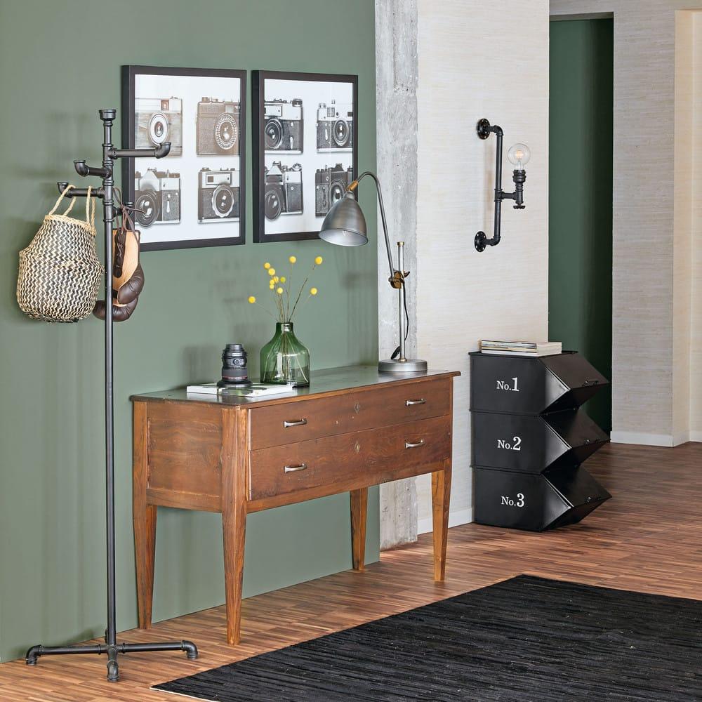 2 tableaux photos noir et blanc 60x60 vintage time. Black Bedroom Furniture Sets. Home Design Ideas