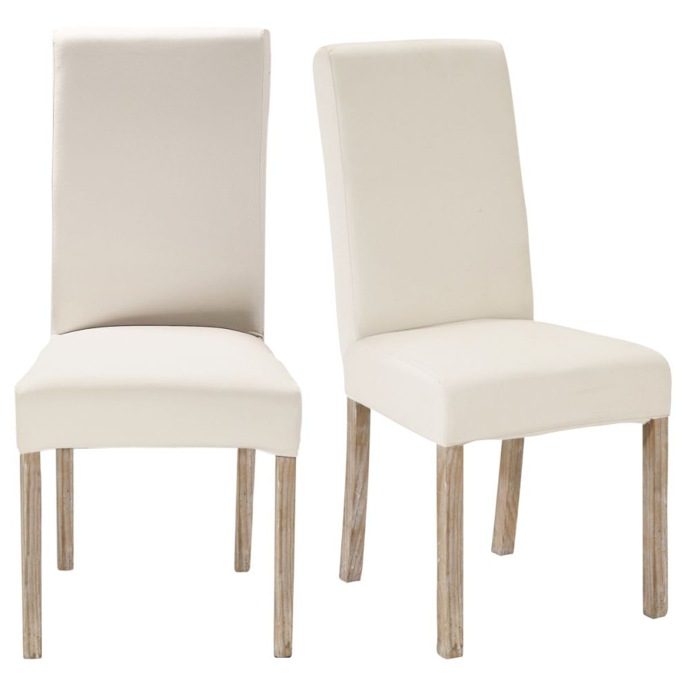 2 white finish pine chairs for covering margaux