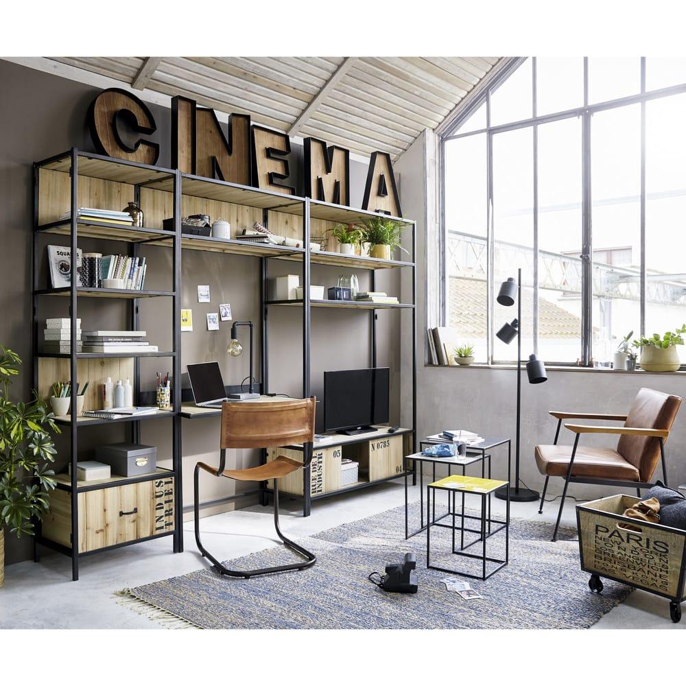 3 bouts de canap gigognes en m tal tricolore hunstville. Black Bedroom Furniture Sets. Home Design Ideas