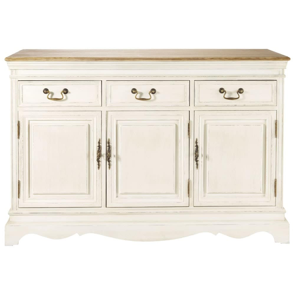 3 Door 3 Drawer Sideboard in Cream Léontine | Maisons du Monde