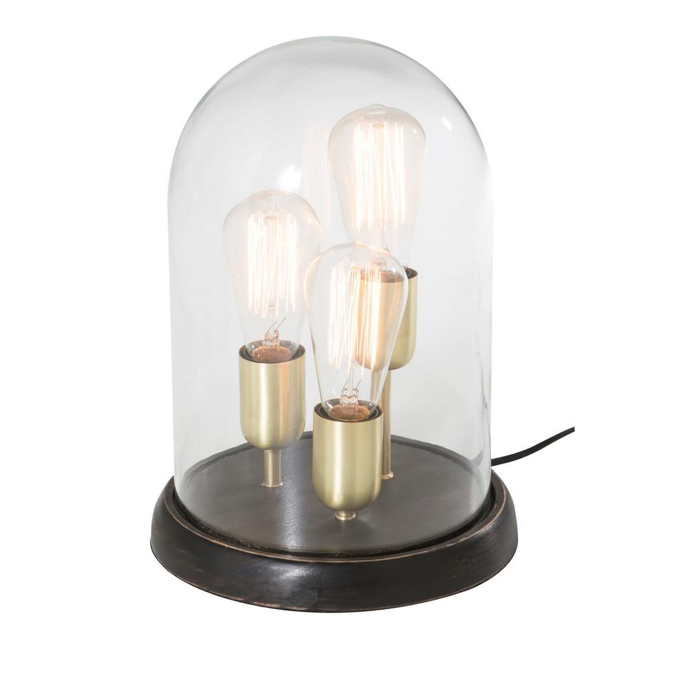 3 lampes sous cloche en verre backstage maisons du monde. Black Bedroom Furniture Sets. Home Design Ideas