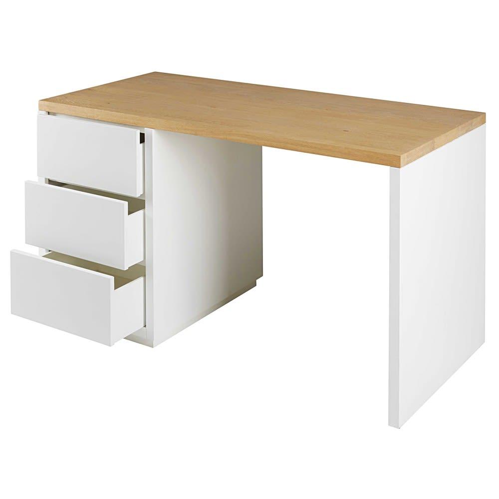 3 Schubladen Schreibtisch Weiß Austral Maisons Du Monde