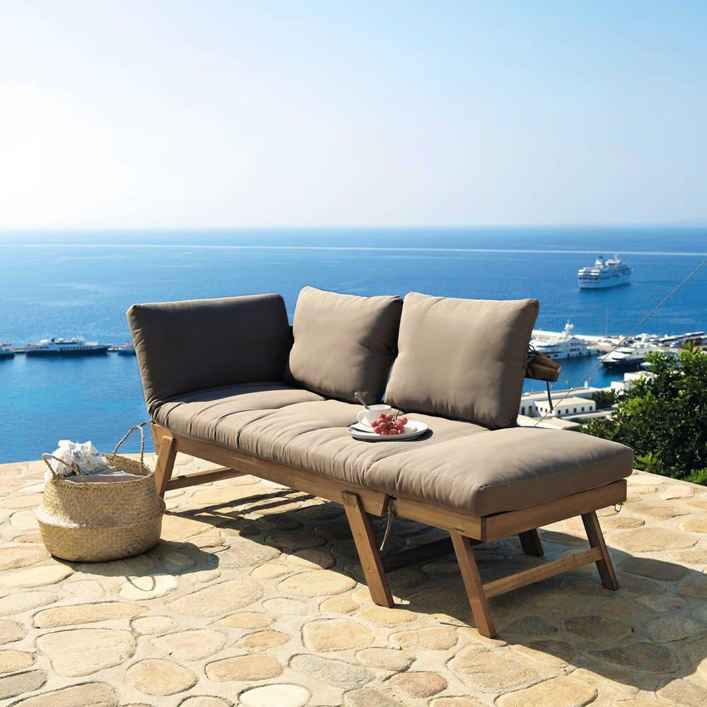 3 Seater Acacia Wood Modular Garden Bench Seat Relax
