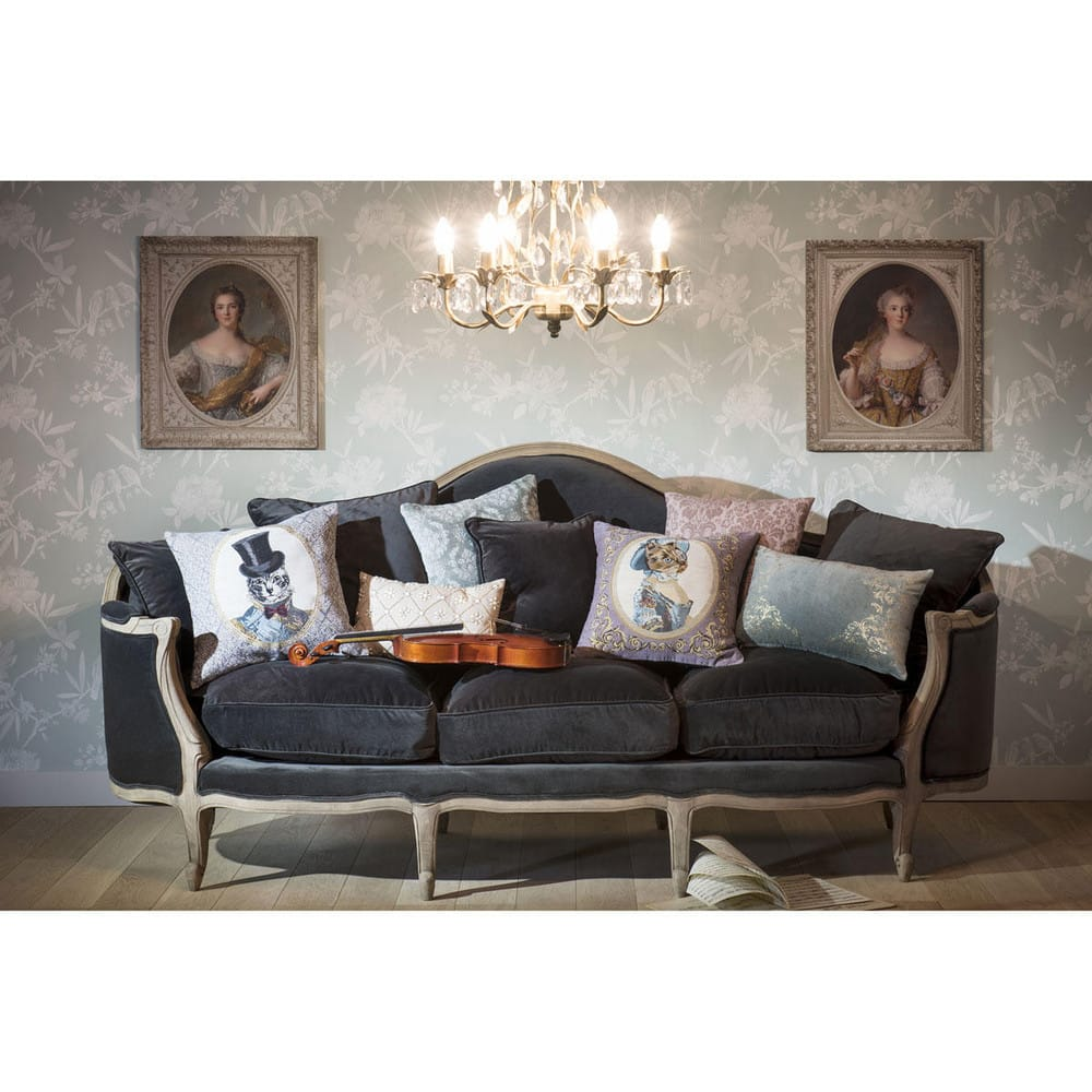 Charcoal Velvet Sofa: 3 Seater Velvet Sofa Bench In Charcoal Grey Clarisse